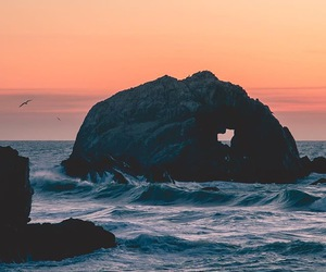 rock, heart, and nature image