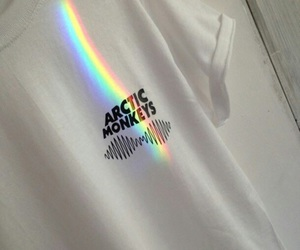 arctic monkeys, rainbow, and grunge image