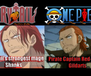 one piece, fairy tail, and anime image