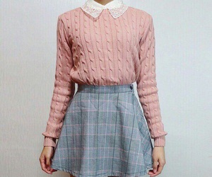 pink, outfit, and skirt image