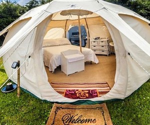 tent and home image