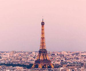 happy, paris, and pink image