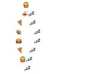 food, quote, and sleep image