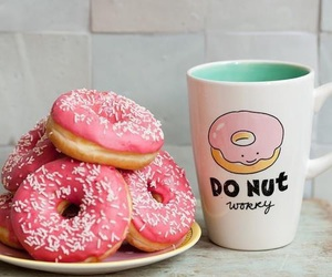 eat, donut, and cup image