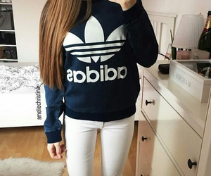 adidas, white, and ootd image