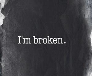 broken, sad, and black image