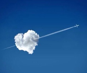 heart, clouds, and sky image