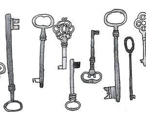 key, drawing, and draw image