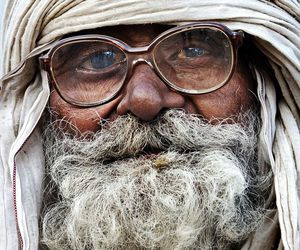 beard, happy, and humanity image