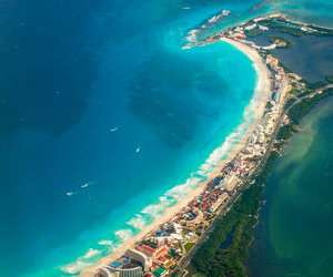 beach, cancun, and landscape image