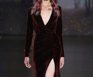 dress, velvet, and aesthetic image