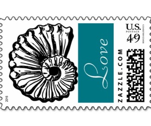 beach, stamps, and love image