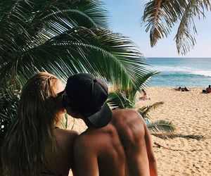summer, couple, and love image