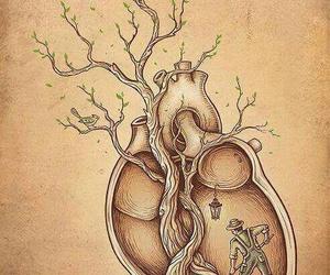 heart, art, and tree image