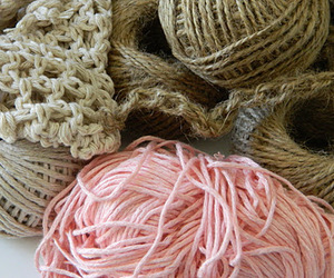 cozy, pink, and knitting image