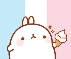 background, bunny, and ice cream image