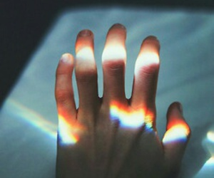 hand, rainbow, and grunge image
