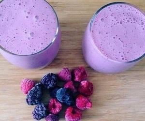 purple, food, and smoothie image