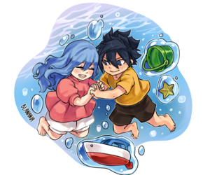 fairy tail, juvia, and gruvia image