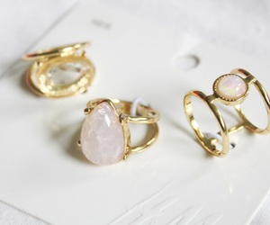 accessoires, gold, and rings image