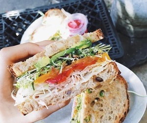 sandwich, food, and delicious image