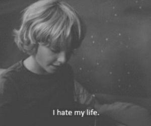 hate, life, and sad image