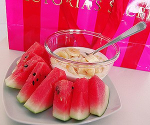 fruit, pink, and Victoria's Secret image