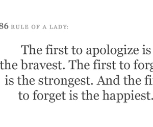 apologize, brave, and forget image