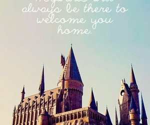 hogwarts, harry potter, and home image