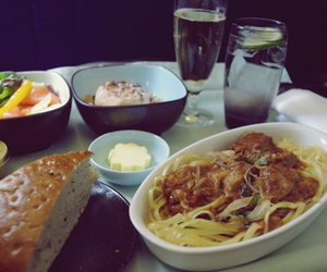 airplane, bread, and business image