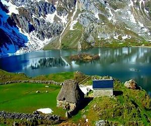 asturias, lago, and montaña image