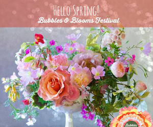 blooms, bubbles, and champagne image