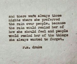rain, quote, and people image