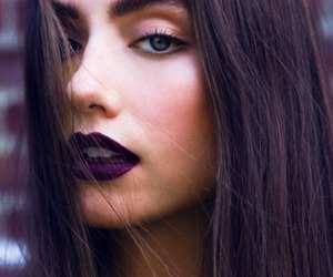 makeup, lips, and hair image