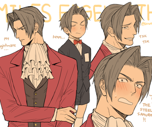ace attorney and miles edgeworth image