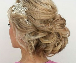 blonde, hair style, and Prom image