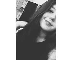 black&white, girl, and stylé image
