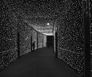 light, stars, and black image