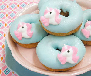 unicorn, donuts, and food image