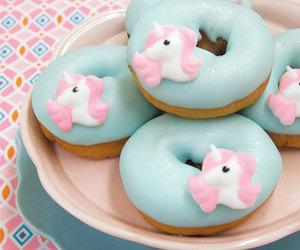 unicorn, donuts, and food image