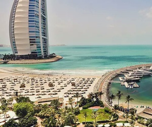Dubai, beach, and sea image