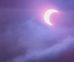 moon, purple, and sky image