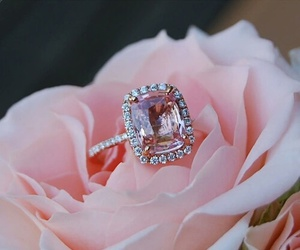 ring, pink, and rose image
