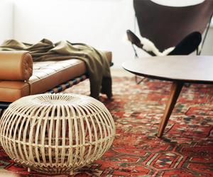 bohemian, living room, and rug image