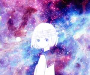anime, galaxy, and girl image