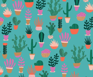 cactus, illustration, and pattern image