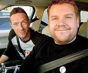 Chris Martin, coldplay, and james corden image