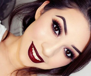 beuty, black, and makeup image