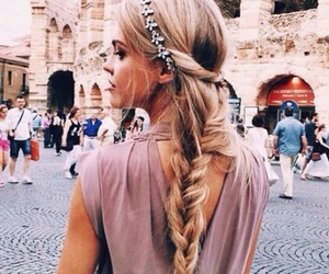 hair, braid, and italy image