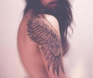 pretty, tattoo, and wings image